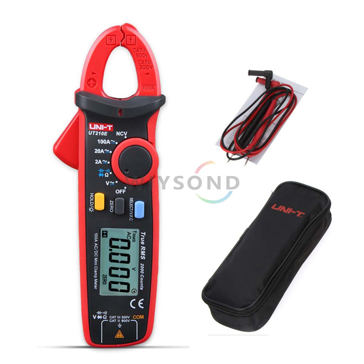 M077  UNI-T Mini Digital Clamp Meter UT210E Ture RMS Auto Range 2000 Count LCD Display Multimeters Megohmmeter Backlight uni t ut61b modern digital multimeters 3999 count auto power off temperature tester lcd backlight