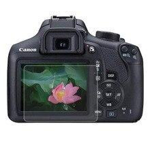 Szkło hartowane do Canon 1200D 1300D 1500D 2000D Rebel T5 T6 T7 pocałunek X70 X80 X90 kamera folia ochronna na ekran