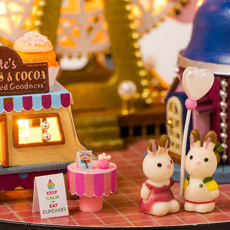 DIY Puppenhaus Miniatur Modell holzhaus Handgemachten Spielwaren ...