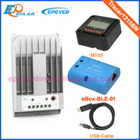 Battery charger solar panel regulator Tracer1215BN bluetooth function USB cable+MT50 remote meter 10A 10amp 12v 24v