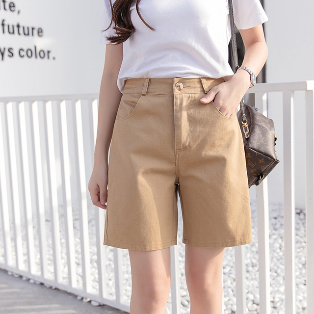 b7bcb37371f New Cotton summer candy color women shorts casual style ladies shorts hot  sale plus size cotton female shorts femininos Loose