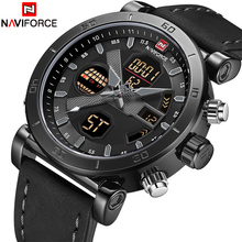 NAVIFORCE יוקרה גברים של LED אנלוגי קוורץ שעון גברים צבא צבאי ספורט שעונים זכר עמיד למים תאריך שעוני יד Relogio Masculino