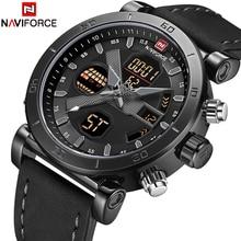 NAVIFORCE Luxury Mens LED Analog Quartz Watch Men Army Military Sport Watches Male Waterproof Date Wristwatch Relogio Masculino