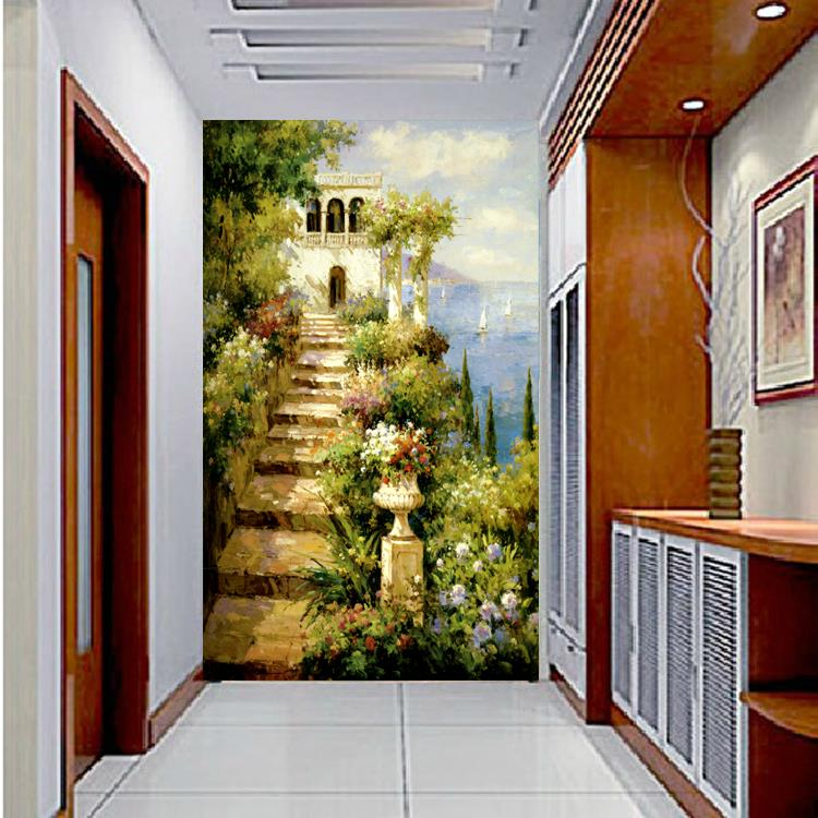 Aliexpress Buy Large Entrance Hallway Mural End Of The Passage Shuban Living Room Bedroom Wallpaper Background American Country From