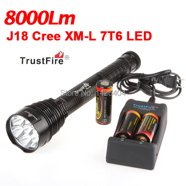 J18 8000 Lumen 7 x XML T6 LED Flashlight Torch 8000lm Flash Light + 3 x 26650 Batteries + Charger + Holster sitemap 46 xml