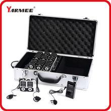 Une façon système de guide sans fil radio guide système YT100 YARMEE (2 émetteurs + 30 récepteurs + chargeur cas + tous les accessoires)