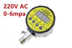 HC-Y810 220 V AC 0-6mpa cyfrowe elektryczne skontaktuj się z miernik ciśnienia  miernik próżni  wyświetlacz cyfrowy  inteligentny ciśnienia cont
