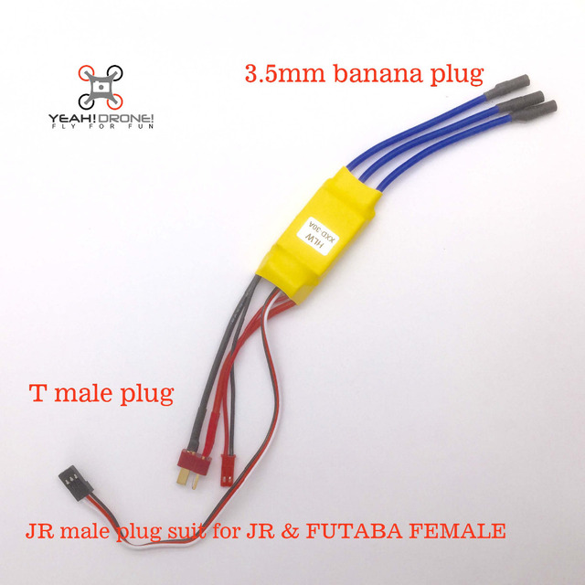 xxd 30a brushless esc with 3 5mm banana already t male plug for jr rh aliexpress com 4-In-1 Brushless ESC Wiring 4-In-1 Brushless ESC Wiring