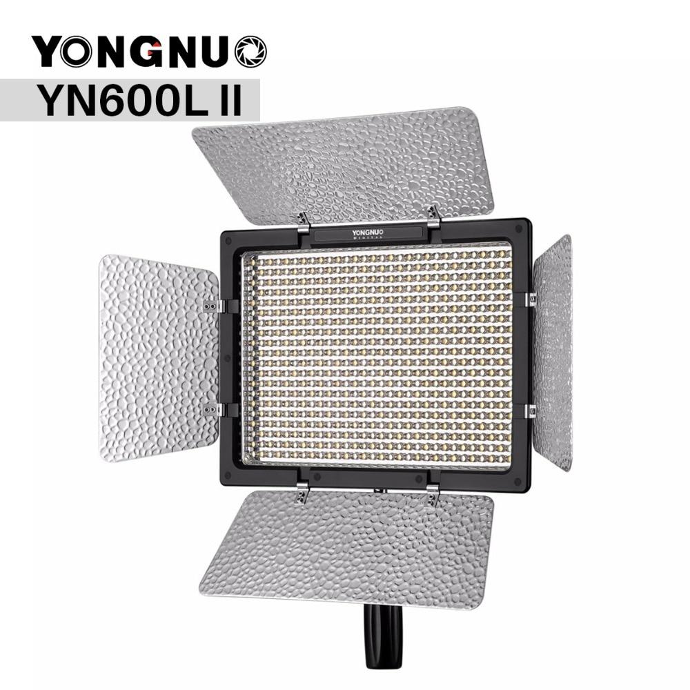 Yongnuo YN600L II YN600 II 3200K 5500K Panel LED Video Light with Falcon Eyes Adapter Set
