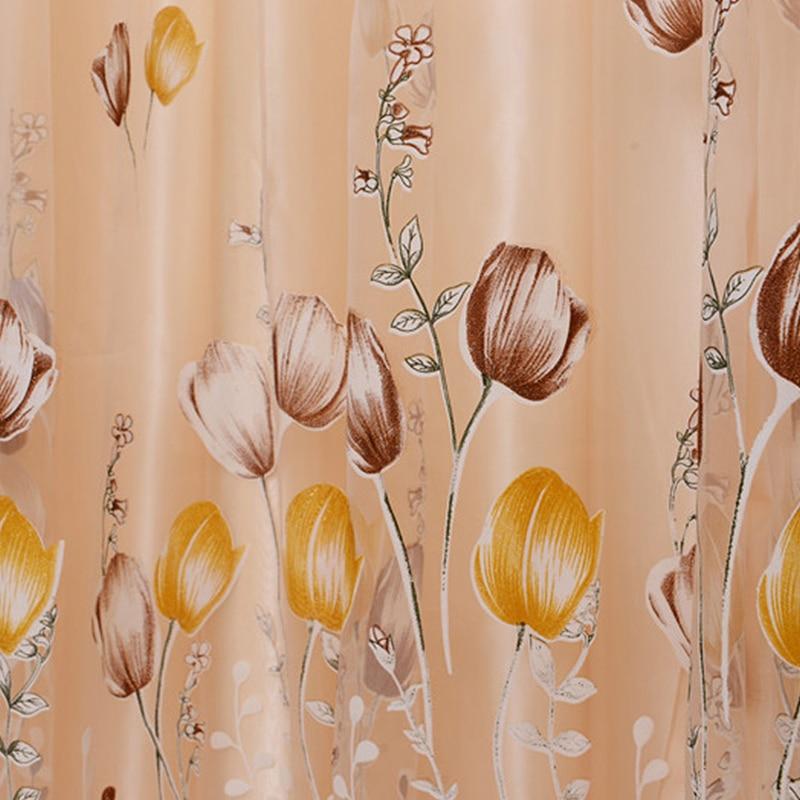 Karšto pardavimo tulpės gėlės vienintelis lango užuolaidų karoliukai puokštė durų šalikas užuolaidos Valance