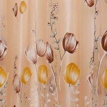 Hot Sales Tulip Flower Sheer Window Curtain Beads Tassel Door Scarf Drapes Valance