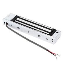Один электрический свет дверные замки 12 В Магнитный электромагнитный замок 180 кг(350lb) силы для проведения Система контроля доступа