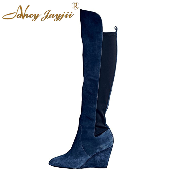 Popular Womens Riding Boots in Navy Blue-Buy Cheap Womens Riding