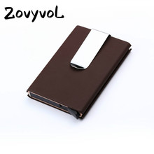 ZOVYVOL Men And Women High Quality ID Credit Card Holder Purse Wallet Thin Business Case Aluminum Package