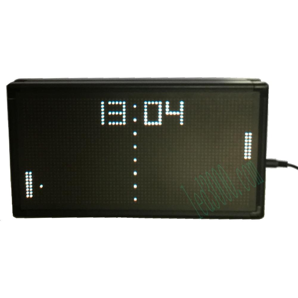 Offres spéciales intérêt saut boule horloge LED horloge de bureau couleur blanche affichage en temps réel LED horloge d'intérieur haute luminosité horloge matricielle