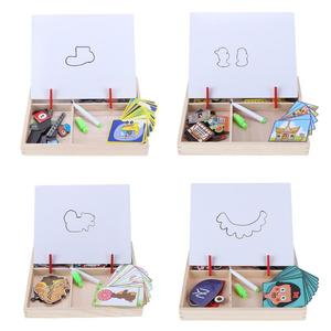 Image 5 - Houten Magnetische Puzzels Speelgoed Kids Educatief Pretend Play Leren Houten Speelgoed Houten Puzzels Voor Kinderen Houten Puzzels Game Gift