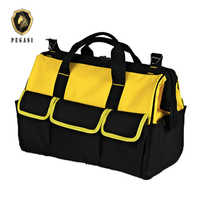 PEGASI 14 InchToolkit High Quality Multi-purpose Electrician Single Shoulder Pockets Large Capacity Thicken Professional Toolbag