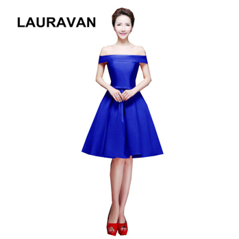 blue satin puffy beautiful ball gown bridesmaid corset dress special party occasion dresses girls for woman 2019 free shipping