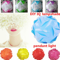 DIY Modern Pendant Ball Novel IQ Lamp Jigsaw Puzzle Pendants Colorful Pendant Lights LED DIY Adjustable