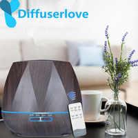 Difusor amor 500 ML Control remoto Humidificador de aire difusor de aceite esencial Humidificador fabricante de niebla LED difusor de Aroma aromaterapia