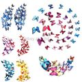 12PCS/Set 3D Butterfly Sticker PVC Wall Decor Cute Colorful Butterflies Wall Stickers Art Decals Home Decoration Wedding Gifts