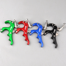 Sale Archery 4 Finger WOLF Grip Caliper Release Aid Stainless Steel Release for Compound Bow Hunting/Shooting