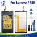 1 pcs menor preço para lenovo p780 lcd com tela de toque digitador assembléia + ferramentas