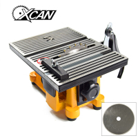 XCAN 220V 60w Mini Table Saw/Mini Bench Saw for cut Stone Wood Copper Aluminium Lead cutting machine
