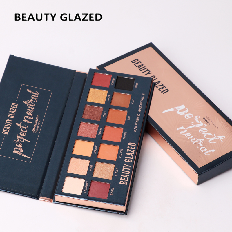 Beauty Glazed Matte Eyeshadow Pallete 14 Color Glitter Eye shadow Make up palette Warm Luminous Beautiful makeup pallete