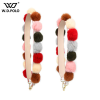 WDPOLO New Fur Design Shoulder Straps Classic Fashion Gold Buckle Panelled Strap Chic Necessary Easy Matching
