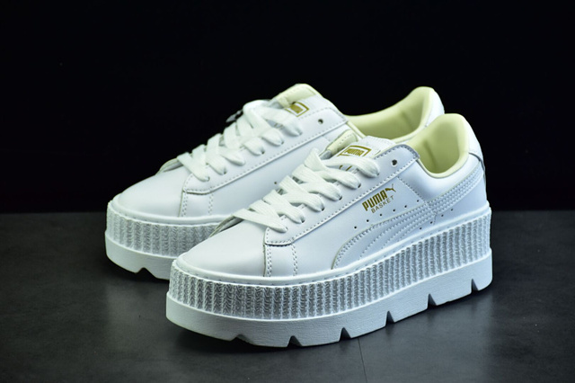Original PUMA X RIHANNA Suede Cleated Creeper Women s Third Generation  Rihanna Classic Basket Tone Simple Badminton Shoes b30b6e368