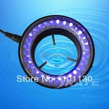 Фиолетовый Свет Флуоресцентные Лампы 60 СВЕТОДИОДНЫХ Кольцо Лампы для Стерео Биологическая Увеличить Микроскоп Части с Адаптером 220 В или 110 В