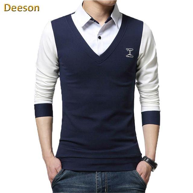 Man T Shirt Good Quality Hot Sale Fashion Casual Full Cotton Turn ...