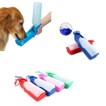 Dog Travel Water Bottle Dispenser Foldable Plastic Dog Cat Drinking Water Feeder Portable Outdoor Pet Puppy Bowl 250ml 500ml Собака