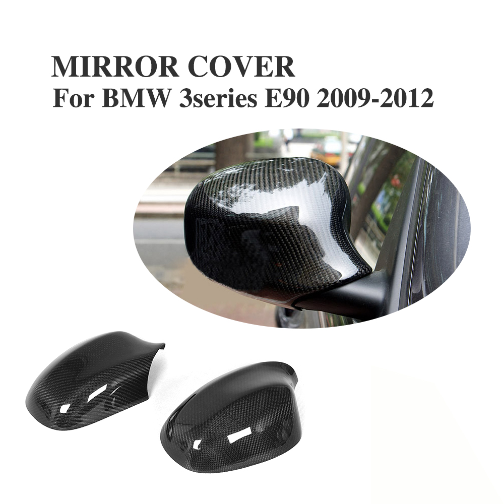 Carbon Fiber Side Wing Mirror Covers For BMW 3 Series E90 E91 Convertible 2009-2011 Add on style Rearview Mirror Caps e60 carbon fiber front side mirror cover cap trim for bmw e60 5 series 520i 523i 530i 535i 520d 525d 530d 535d 2004 2009