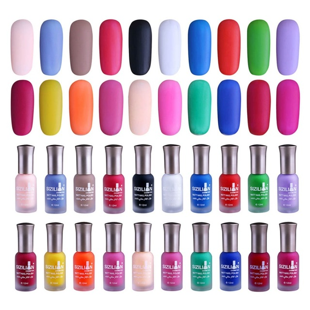 1 Bottle 12ml Matte Dull Nail Polish Fast Dry Long lasting Nail Art ...