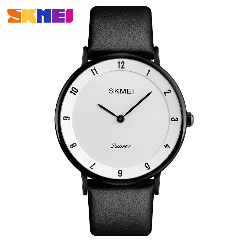 SKMEI Men's Quartz Watch Business Mens Watches Top Brand Luxury Fashion Ultra Thin Watches Men Male Clock Relogio Masculino 1263