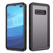 For Galaxy S10 Waterproof case IP68 Waterproof Shock Dirt Snow Proof Protection for Samsung Galaxy S10 Plus With Touch ID Cover for galaxy s8 plus case shock dirt snow proof protection for samsung galaxy s8 with touch id cover