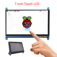7 inch Raspberry Pi 4B /3B+/3B Touch Screen 1024*600 800*480 LCD HDMI Display |Holder compatible PC Laptop Nvidia Jetson Nano