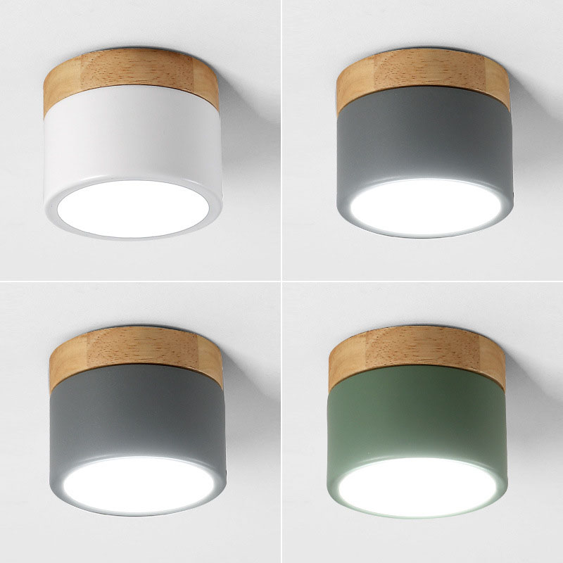 Modern Nordic Small Round LED Downlight Living Room Foyer Corridor Hotel Ceiling Mounted Modern Wood LED Down Light LampModern Nordic Small Round LED Downlight Living Room Foyer Corridor Hotel Ceiling Mounted Modern Wood LED Down Light Lamp