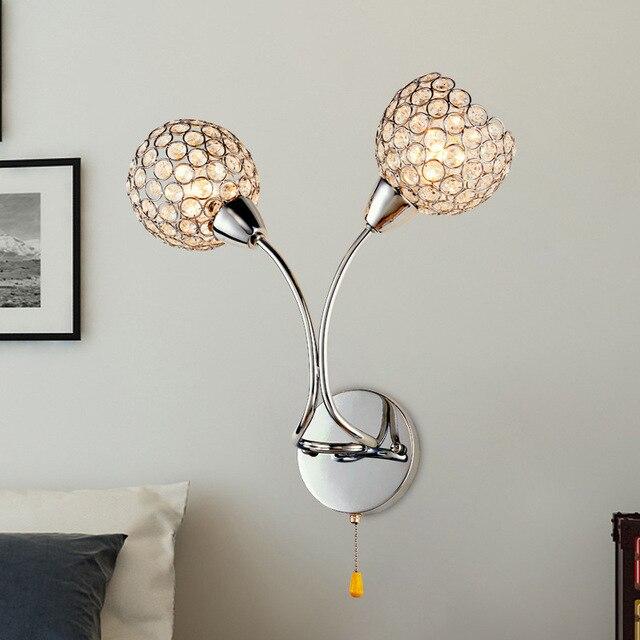 Sederhana Lampu Dinding Kristal Modern Dipimpin Hias Ruang Tamu Luar Cahaya R Tidur