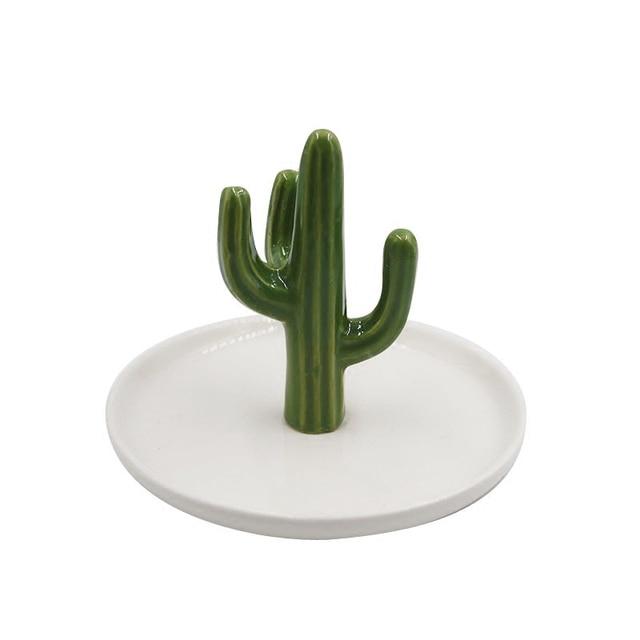 Saideke golden green ceramics cactus storage trays ornaments saideke golden green ceramics cactus storage trays ornaments jewelry dish gifts for home wedding decoration accessories junglespirit Gallery