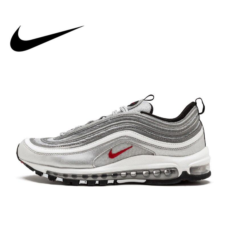 Оригинальные аутентичные Nike Air Max 97 OG QS женские дышащие кроссовки для бега на открытом воздухе спортивные низкие кроссовки брендовая Дизайн