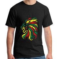 Yeni Yaz Tarzı Reggae Tribal T Gömlek Erkekler 100% pamuk kısa kollu Baskılı erkek T-shirt Marka Artı Boyutu tshirt