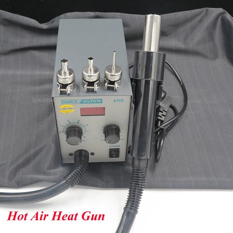 1 pc LED affichage réglable pistolet à Air chaud avec vent hélicoïdal 580 W SMD Station de reprise rapide 957DW