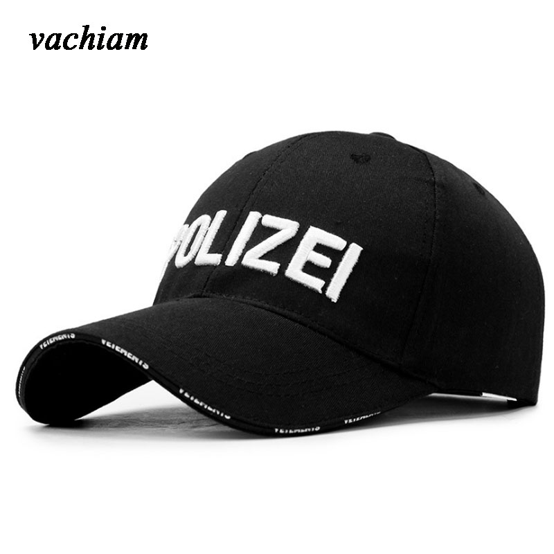 vachiam High Quality Police Cap Unisex Hat Baseball Cap Men Snapback Caps Adjustable Snapbacks For Adult fetsbuy high quality cap unisex snapback men baseball cap men caps basketball gorras fitted snapbacks hats for men women hat