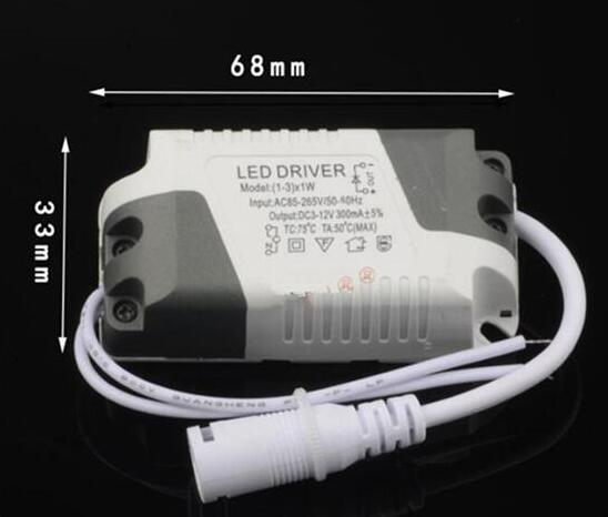 3 Years Warranty 1W 7W 12W 18W 25W 36W Power Supply LED Driver Adapter Transformer Switch For LED Lights With Female Connector
