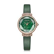 אמא של פרל נשים של שעון יפן קוורץ אלגנטי אופנה קריסטל שעה צמיד עור שעון של הילדה יום הולדת מתנה יוליוס תיבה