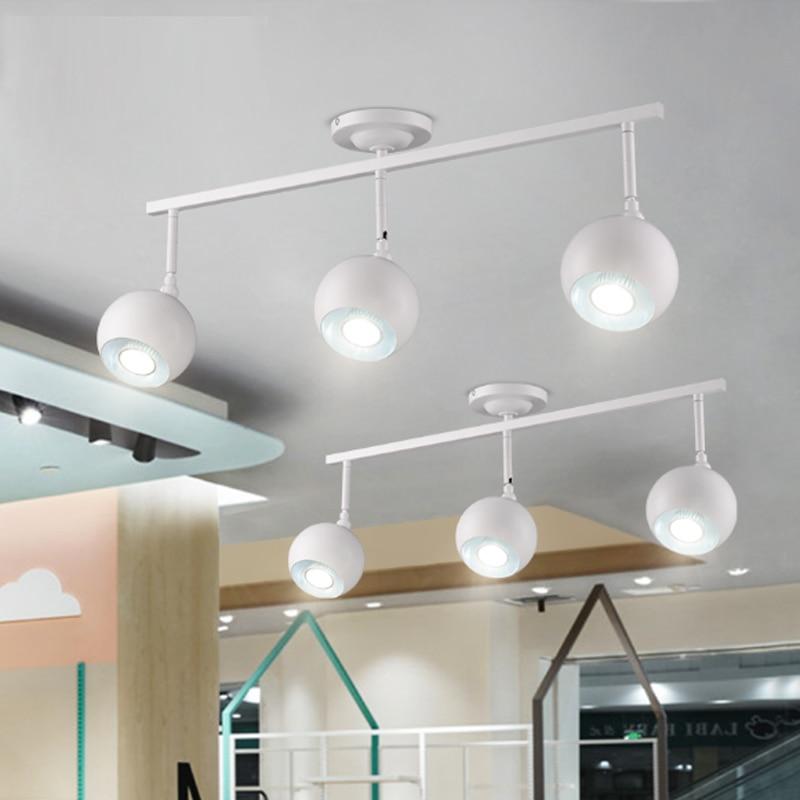 Lights & Lighting Shopcase Bar Led Spotlight Track Lamp Fashion Shop Cafe Led Spotlight Art Deco Picture Light Show Room Led Ceiling Fixture Avize Bracing Up The Whole System And Strengthening It Ceiling Lights