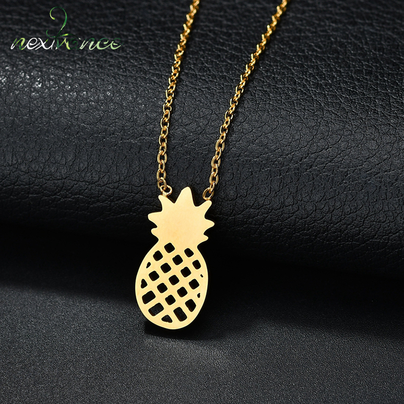 Necklaces & Pendants Nextvance Pineapple Pendant Neckalce Fruit Link Chain Choker Necklaces For Women Charm Jewelry Korean Style Harmonious Colors Chain Necklaces